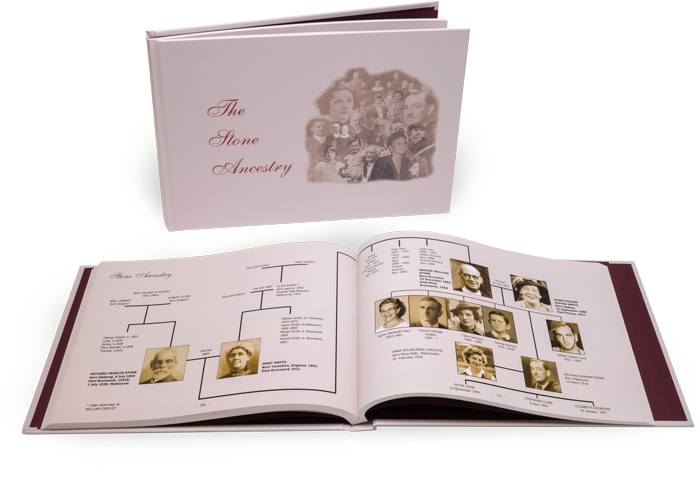 Family history books create your own photo legacy for Ancestry book templates