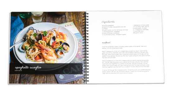 Recipe books make your own personal cook book customised recipe books forumfinder Choice Image