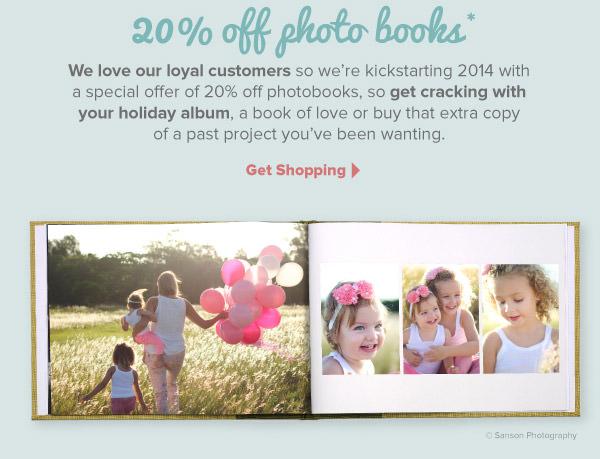 20% Off Photo Books