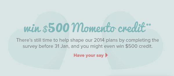 Win $500 Momento Credit